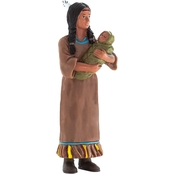 Native American Woman Realistic History Figurine