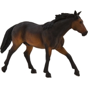 Realistic Horse Figurine, Sooty Bay Quarter Horse