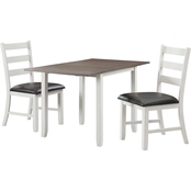 Elements Martin Drop Leaf Table 3 pc. Dining Set