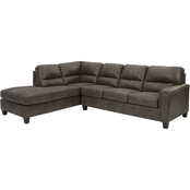 Signature Design by Ashley Navi Sectional with RAF Sofa and LAF Corner Chaise