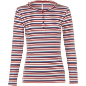 JW Missy Scoop Neck Feeder Stripe Rib Top