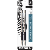 Zebra F301 Retractable Fine Point Ballpoint Pen 2 pk.