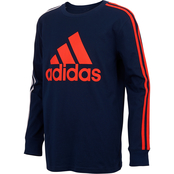 adidas Toddler Boys Badge of Sports Stripe Tee