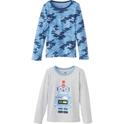 Gumballs Toddler Boys Camo and Solid with Screen Print Ringer Tees 2 pk.