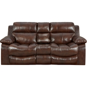 Catnapper Positano Reclining Leather Loveseat