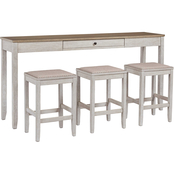 Signature Design by Ashley Skempton 4 pc. Rectangular Counter Dining Set