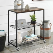 Whitmor Modern Industrial Three Tier Shelf