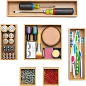 Whitmor Bamboo Drawer Organizers