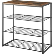 Whitmor Modern Industrial 4 Tier Storage Shelves