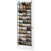 Whitmor Gunmetal Over the Door Shoe Rack
