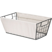 Whitmor Wire Small Shelf Tote with Canvas Sides