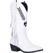 Dingo Women's Embroidered Thunderbird Mid Calf Boots with Tassels
