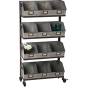 Evergreen Large 12 Bin Storage and Display Rack