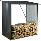 Hanover Galvanized Steel Firewood Storage Rack