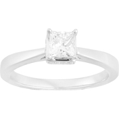 18K White Gold 1/2 CTW Diamond Solitaire Ring, Size 7