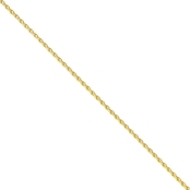 14K Yellow Gold 2.25mm Parisian Wheat Chain 18 in.