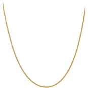 14K Yellow Gold 2.00mm Semi Solid Chain