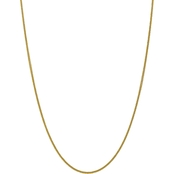 14K Yellow Gold 2mm Semi Solid 3 Wire Wheat Chain 18 in.