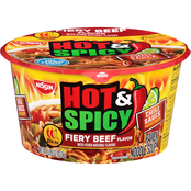 Nissin Hot and Spicy Fiery Beef Ramen
