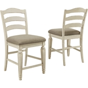Signature Design by Ashley Realyn Collection Upholstered Counter Stool 2 pk.