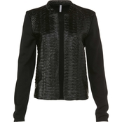 Passports Pieced Leather Jacket