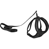 Good2Go Black Mesh Cat Harness and Lead Set