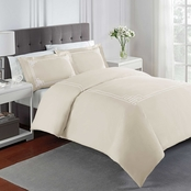 Martex Solid Percale Embroidered Comforter Set