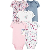 Carter's Infant Girls 5 pk. Owl Original Bodysuits