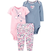 Carter's Infant Girls 3 pc. Koala Little Character Set