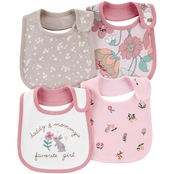 Carter's Infant Girls Floral Teething Bibs 4 pk.
