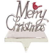 ICE Design Factory Merry Christmas Cardinal Stocking Hanger