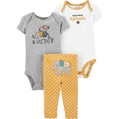 Carter's Infant Girls Elephant Little Character 3 pc. Set