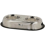 Harmony Brushed Stainless Steel No Tip Double Diner, 3.5 Cup