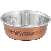 Harmony Copper Woof Stainless Steel Dog Bowl