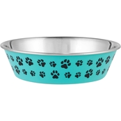 Harmony Aqua Paws Skid-Resistant Stainless Steel Dog Bowl