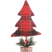 Gigi Seasons Red Plaid Tabletop Tree