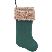 Gigi Seasons 20 in. Stocking, Felt with Faux Fur Cuff