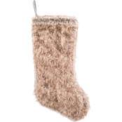 Gigi Seasons Luxe Brown Faux Fur 20 in. Stocking