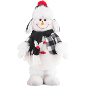Gigi Seasons Standing Stuffed Snowman 12 in.