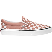 Vans Women's Rose Checker Slip On Shoes