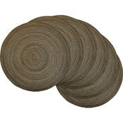 Design Imports Variegated Round Woven Placemat 6 pk.