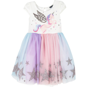 Zunie Little Girls Glitter Star Border Unicorn Tutu