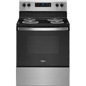 Whirlpool 4.8 cu. ft. Electric Range with Stainless Steel Finish