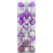 Gigi Seasons Assorted Shape Shatter Resistant Ornament Set 54 ct.