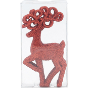 Gigi Seasons Glitter Reindeer Ornament 4 pk.