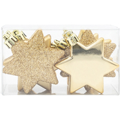 Gigi Seasons Glitter and Shiny Star Ornaments 8 pc. Set