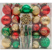 Gigi Seasons 100-count Assorted Ornament Box Set Shatter Resistant