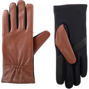 Isotoner Signature Leather Gloves with SmarTouch Fleece