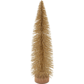 Gigi Seasons Gold Sisal Christmas Tree with Wooden Base