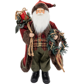 Gigi Seasons 18 in. Standing Santa Figure, Red and White Trim